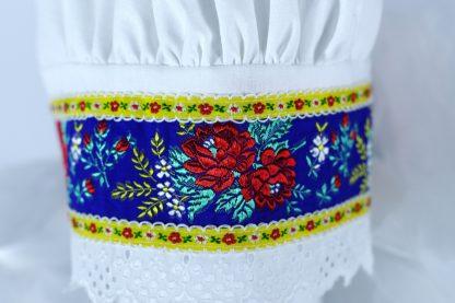 Bavlnený čepiec s krajkou - detail