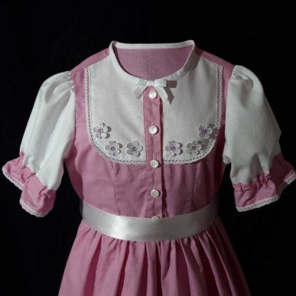 Dievčenské folklórne šaty s opaskom
