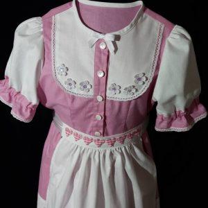 Dievčenské folklórne šaty so zásterou
