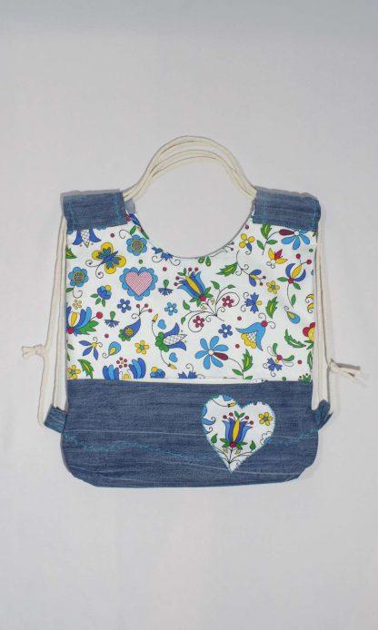 Upcyklovaná taška Jeannie-up Golfská modrá