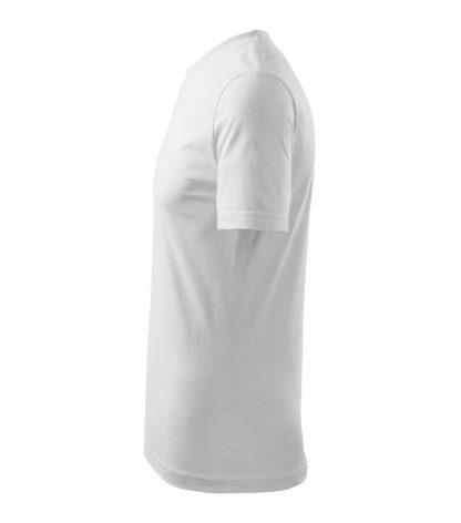Tričko bavlnené biele pohľad zboku