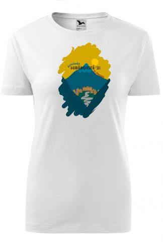 Dámske tričko s retro grafikou Demänovská dolina