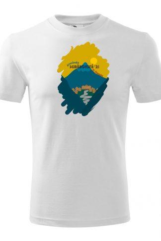 Pánske tričko s retro grafikou Demänovská dolina