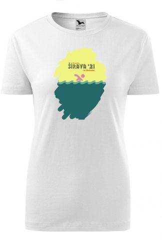 Dámske tričko s retro grafikou Šírava