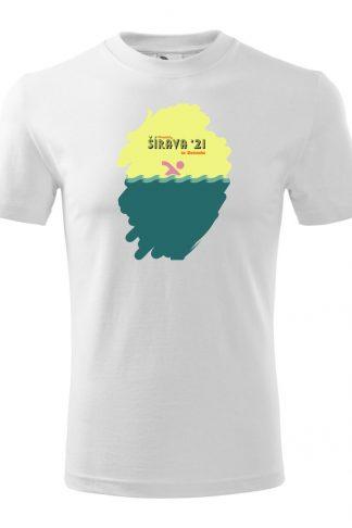 Pánske tričko s retro grafikou Šírava