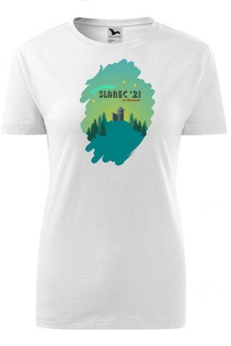 Dámske tričko s retro grafikou hrad Slanec