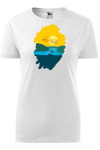 Dámske tričko s retro grafikou Valkov