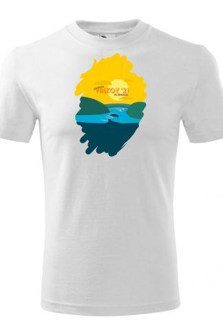 Pánske tričko s retro grafikou Valkov