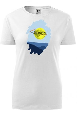 Dámske tričko s retro grafikou Vlčie hory