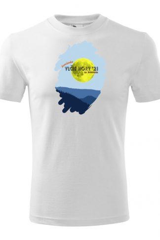 Pánske tričko s retro grafikou Vlčie hory